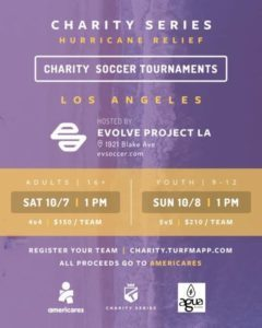 la soccer charity event for puerto rico hurricane victims